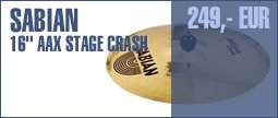 """Sabian 16"""" AAX Stage Crash"""