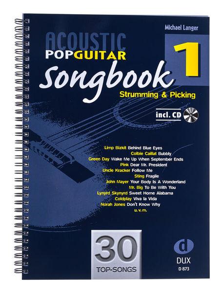 Acoustic Pop Guitar Songbook 1 Edition Dux