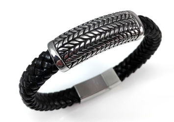 Bracelet Leather Braided Rockys