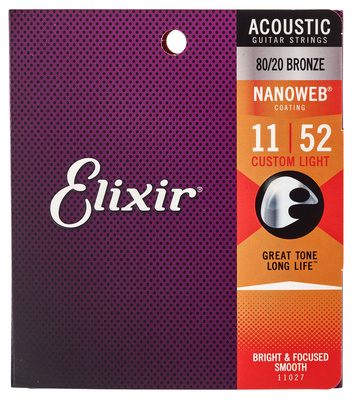 Elixir Nanoweb Custom Light Acoustic