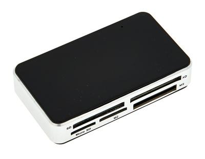 the t.pc Card-Reader für Micro SD, SD, CF, XD,MS und M2 Karten