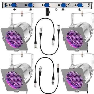 Stairville LED Lighting Kit PAR56 Silver