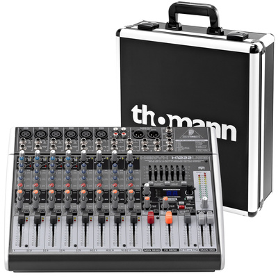 Behringer Xenyx X1222 USB Case Bundle
